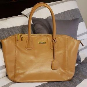 JOY & IMAN Leather Bag, Big, so many pockets